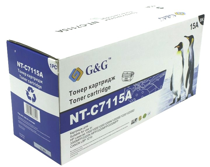 Аксессуар G&G NT-C7115A for HP LaserJet 1000/1005/1200/1220/3300/3320/3330/Canon LBP-1210