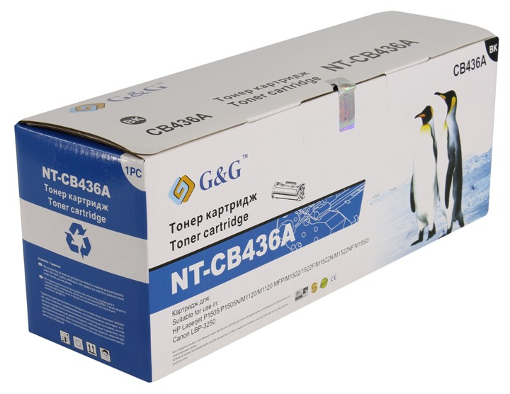 Картридж G&G NT-CB436A for HP LaserJet P1505/M1120/M1522/Canon LBP-3250