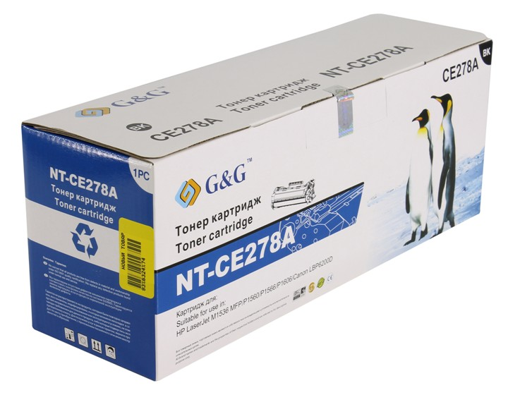 Аксессуар G&G NT-CE278A for НР LaserJet Pro P1560/1566/1606/M1536/1537/1538/1539/Canon LBP-6200