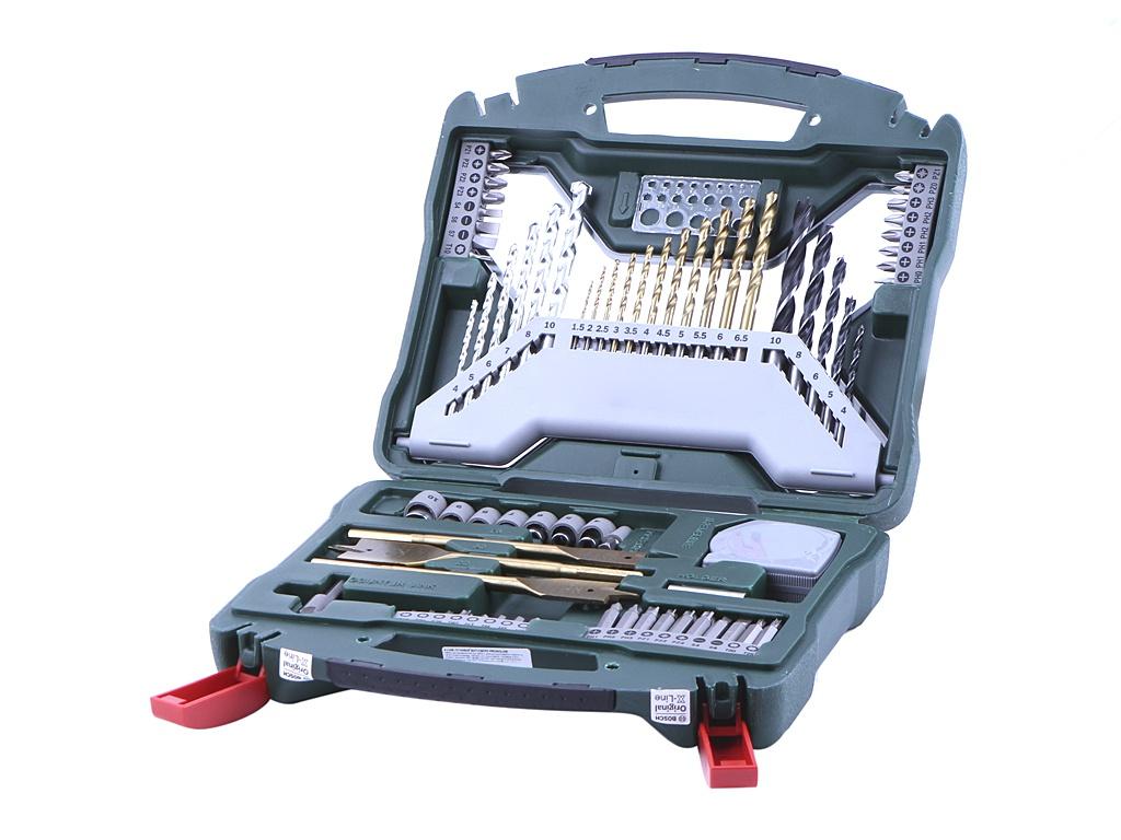 Набор сверл и бит Bosch X-Line-70 70 предметов 2607019329 набор сверл и бит bosch x line 70 70 предметов 2607019329