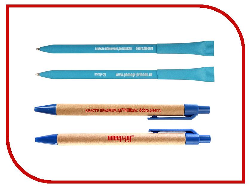 Благое дело Ручка экологическая =ВМЕСТЕ ПОМОЖЕМ ДЕТИШКАМ= Голубая