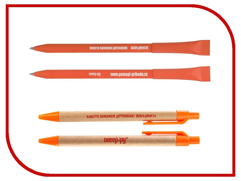Благое дело Ручка экологическая =ВМЕСТЕ ПОМОЖЕМ ДЕТИШКАМ= Оранжевая