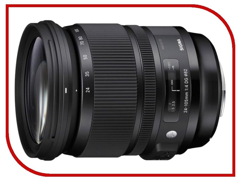 Объектив Sigma Nikon AF 24-105 mm F/4.0 DG OS HSM ART sigma sigma art 24 70 f2 8 dg os hsm полнокадровой постоянной большой апертурой стандартный зум объектив портрет пейзаж туризм nikon байонет объектива