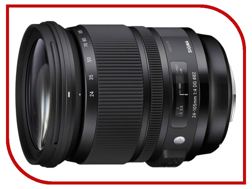 Объектив Sigma Nikon AF 24-105 mm F/4.0 DG OS HSM ART sigma sigma 100 400mm f5 6 3 dg os hsm contemporary полнокадровой телефото зум объектив для съемки птиц лотоса nikon байонет объектива page 3