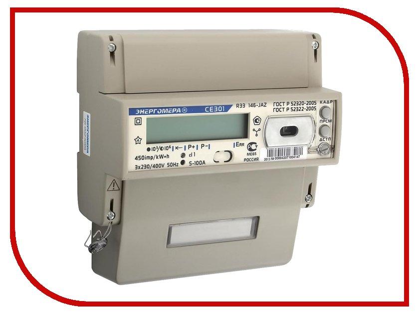 Счетчик электроэнергии Энергомера СЭ3-60/5 Т4 D+Щ ЖК СЕ301 R33 145-JAZ 230/400В RS4