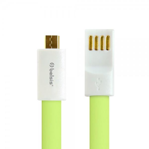 Аксессуар Belsis micro USB - USB A 1m BS1003 Green