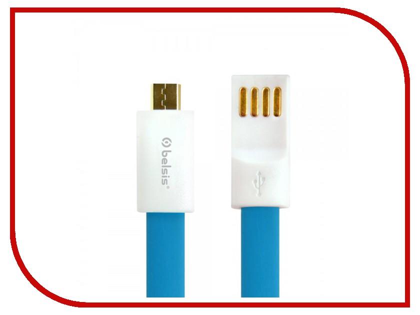 Аксессуар Belsis micro USB - USB A 1m BS1004 Blue<br>