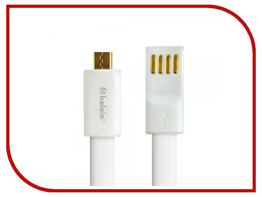 Аксессуар Belsis micro USB - USB A 1m BS1006 White<br>