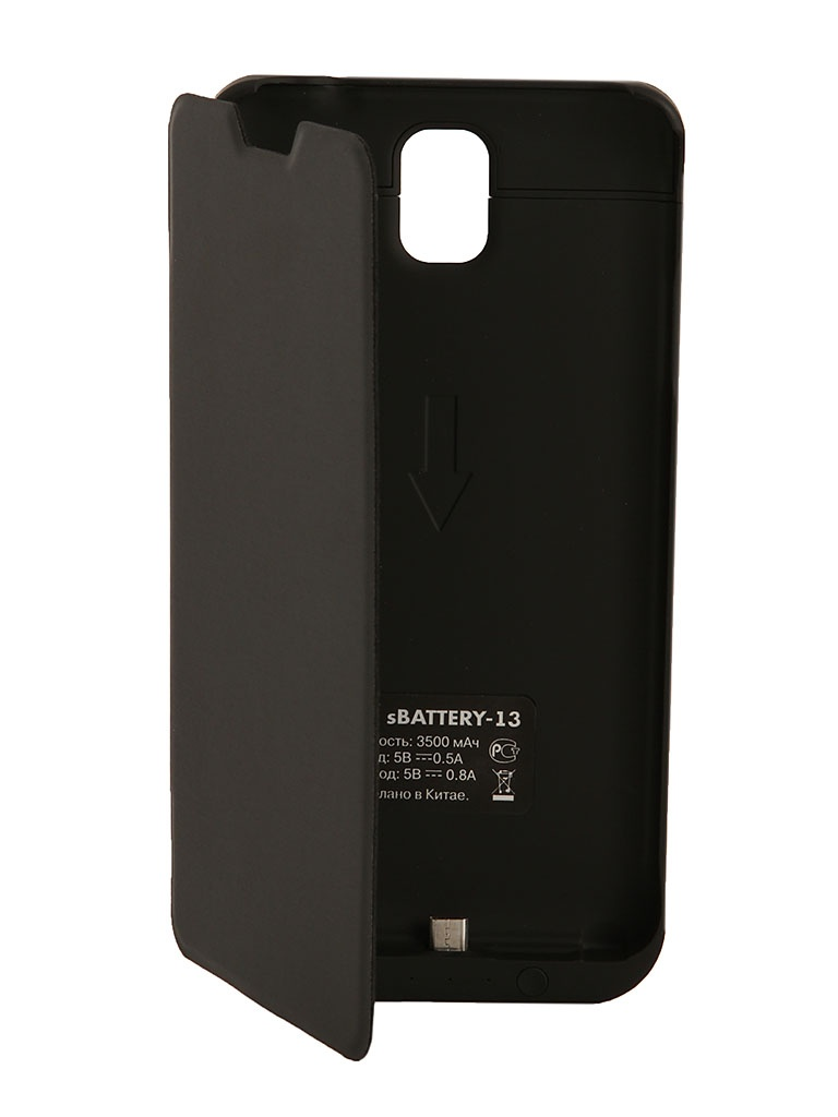Аксессуар Чехол-аккумулятор Samsung SM-N900 Galaxy Note 3 DF SBattery-13 Black