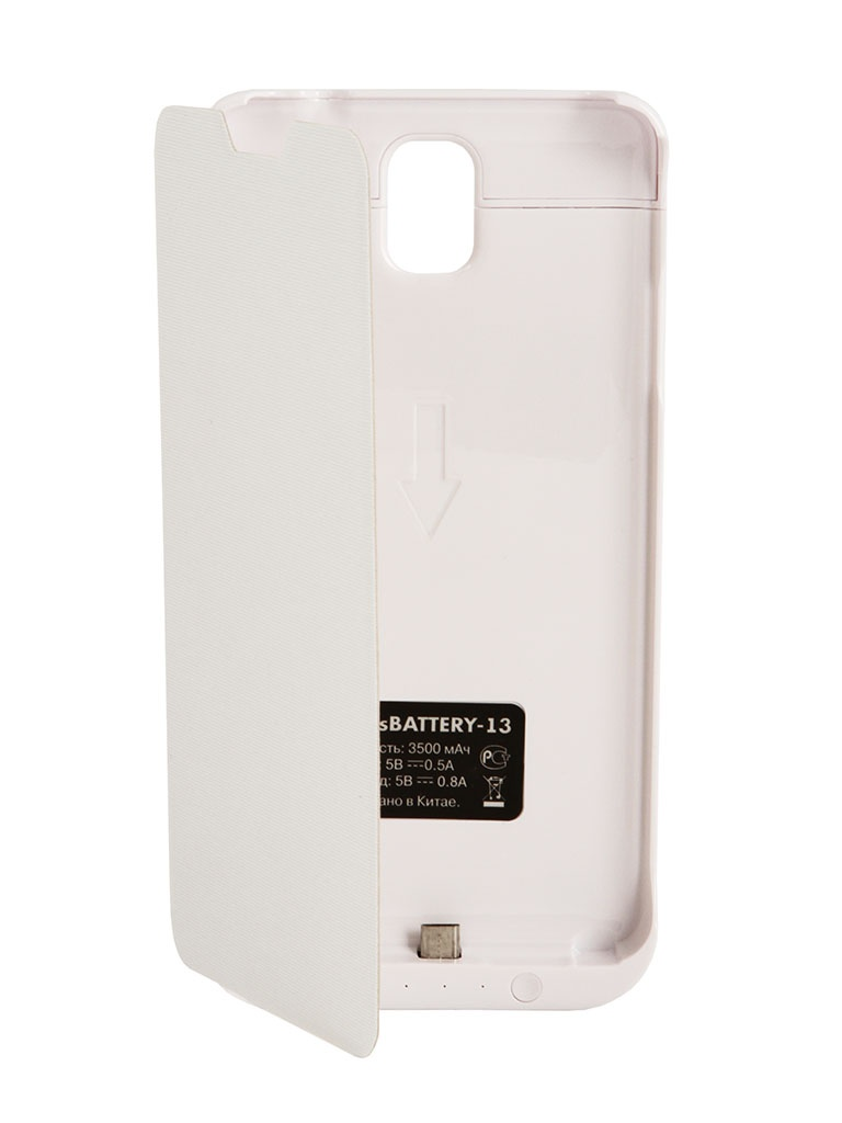 Аксессуар Чехол-аккумулятор Samsung SM-N900 Galaxy Note 3 DF SBattery-13 White
