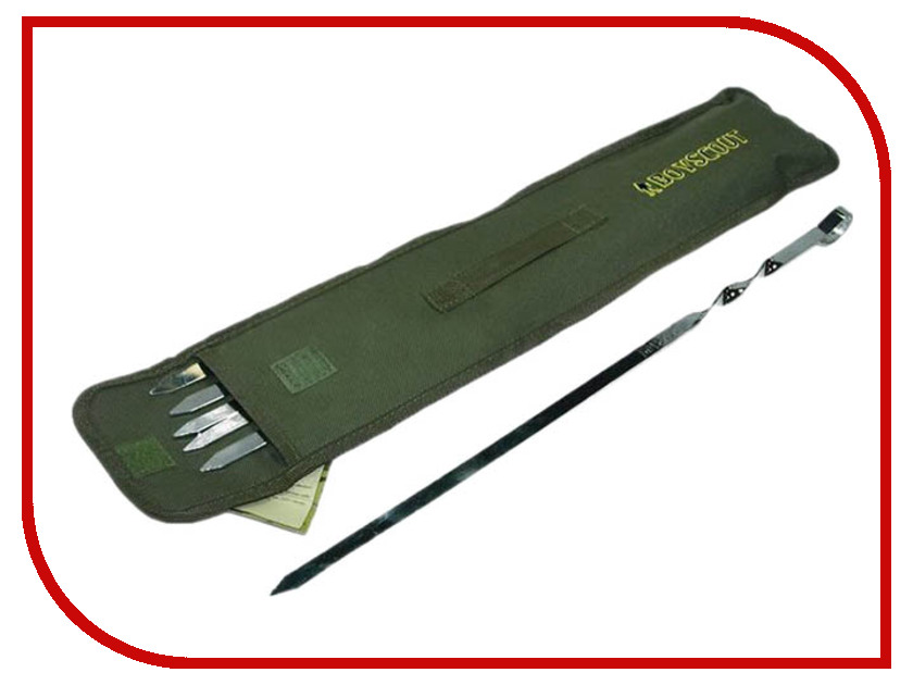 Набор плоских шампуров Boyscout 61329 набор плоских шампуров archimedes 88420