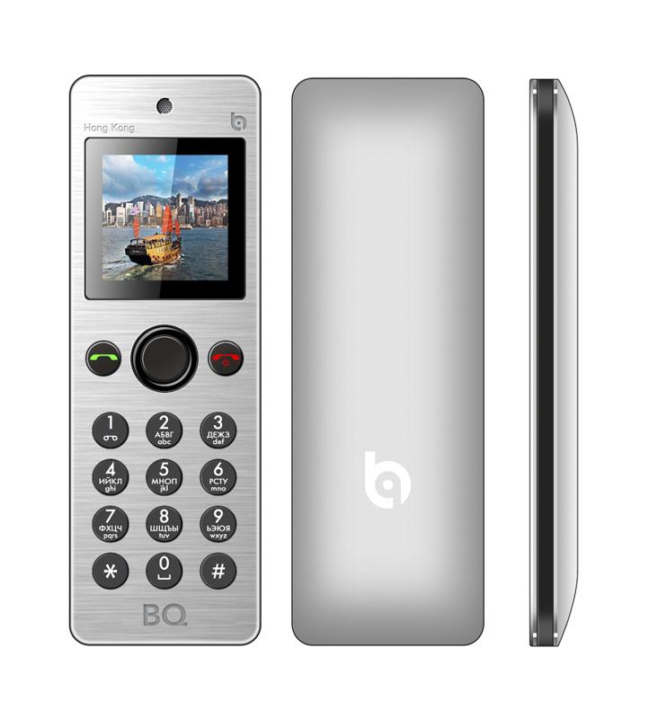 Сотовый телефон BQ BQM-1565 Hong Kong Silver<br>