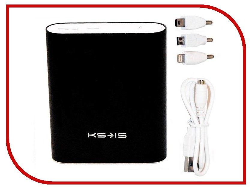 Аккумулятор KS-is KS-239 10400mAh Black внешний аккумулятор ks is power ks 239 10400 мач серебристый