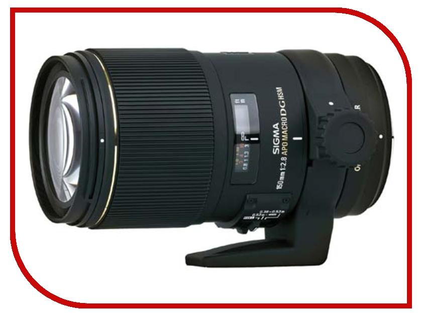Объектив Sigma Canon AF 150 mm F/2.8 APO EX DG OS MACRO HSM объектив sigma canon af 105 mm f 2 8 ex dg os hsm macro