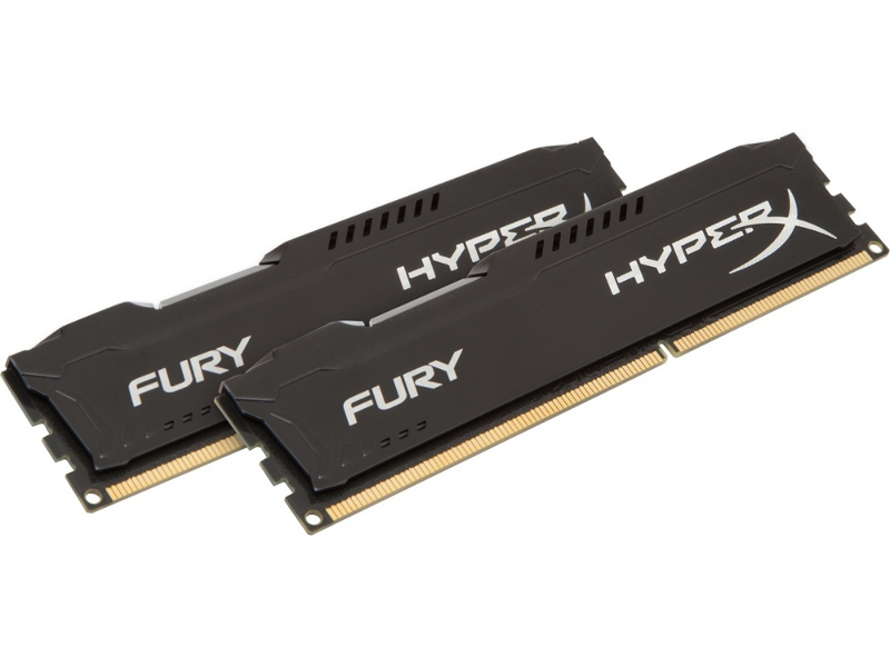 Модуль памяти HyperX Fury Black Series PC3-15000 DIMM DDR3 1866MHz CL10 - 16Gb KIT (2x8Gb) HX318C10FBK2/16