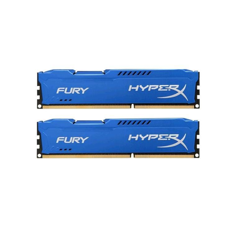Модуль памяти HyperX Fury Blue Series DDR3 DIMM 1866MHz PC3-15000 CL10 - 16Gb KIT (2x8Gb) HX318C10FK2/16