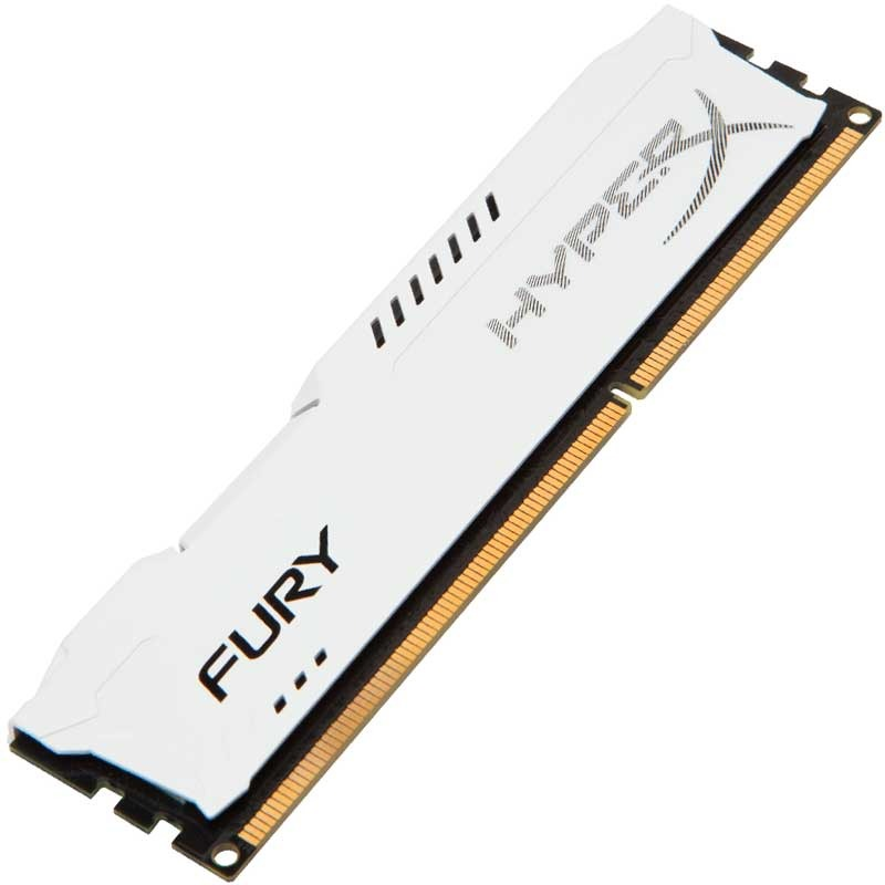 Модуль памяти Kingston HyperX Fury White Series PC3-12800 DIMM DDR3 1600MHz CL10 - 8Gb HX316C10FW/8