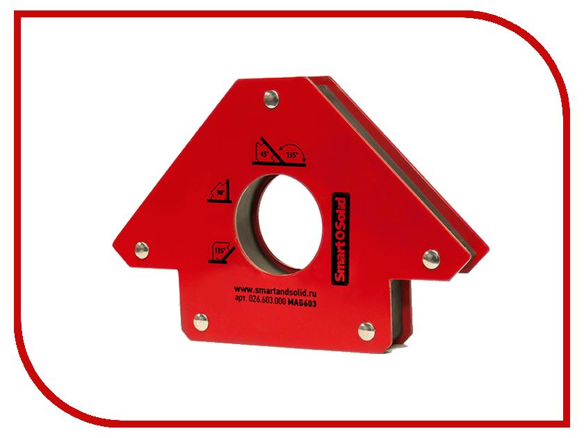 Аксессуар Магнитный угольник Smart&Solid MAG603 магнитный угольник foxweld fix 5pro до 34кг 5395