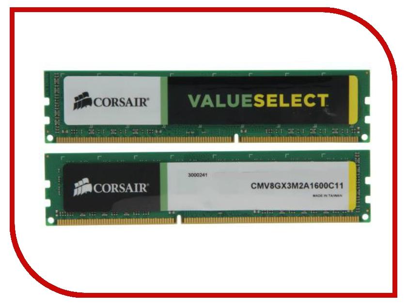 Модуль памяти Corsair DDR3 DIMM 1600MHz PC3-12800 - 8Gb KIT (2x4Gb) CMV8GX3M2A1600C11
