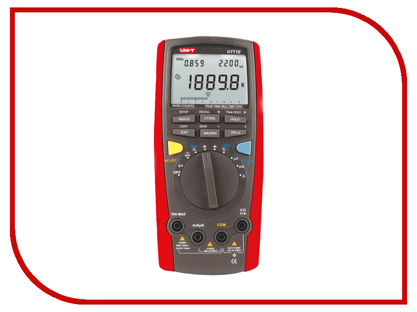 Мультиметр UNI-T UT71E uni t ut601 modern professional capacitance meters ohmmeters capacitor resistor w diode