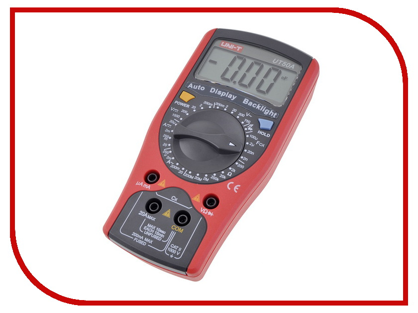 Мультиметр UNI-T UT50A uni t ut207 ac 1000a digital 2 2 lcd clamp multimeter grey red 1 x 6lf22