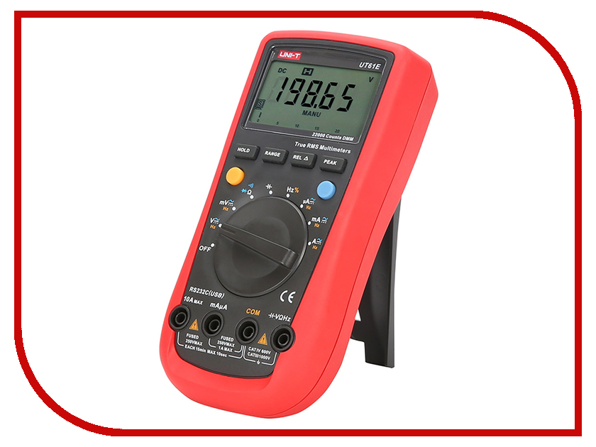 Мультиметр UNI-T UT61E uni t ut139a true rms digital multimeter auto manual range ac dc amp volts ohm tester with data hold ncv and battery test