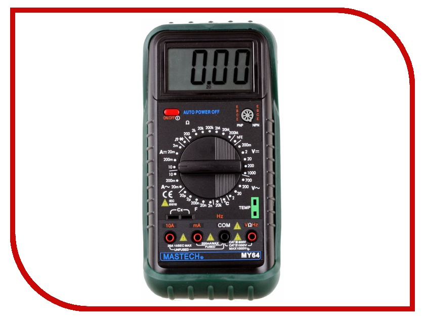 Мультиметр Mastech MY64 my64 digital multimeter dmm frequency capacitance temperature professional meter tester w hfe test