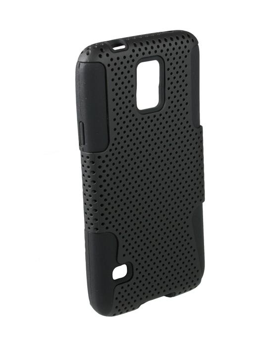 Аксессуар Чехол-накладка сетка Samsung Galaxy S5 Partner Black ПР031628<br>