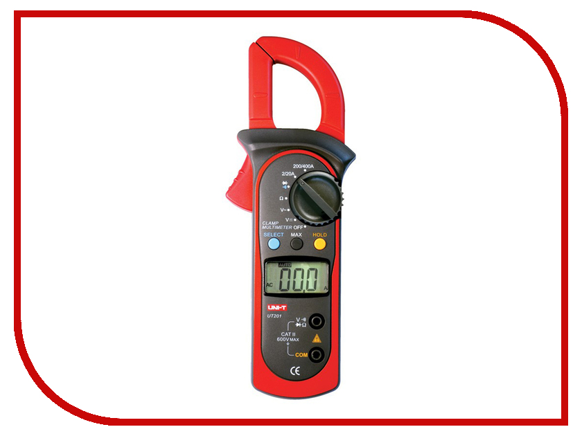 Токовые клещи UNI-T UT201 uni t ut139a true rms digital multimeter auto manual range ac dc amp volts ohm tester with data hold ncv and battery test