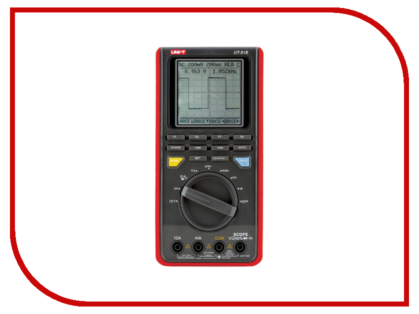 Осциллограф UNI-T UT81B uni t ut220 handheld 2 lcd digital clamp multimeter red grey 1 x 6lf22 max 2000