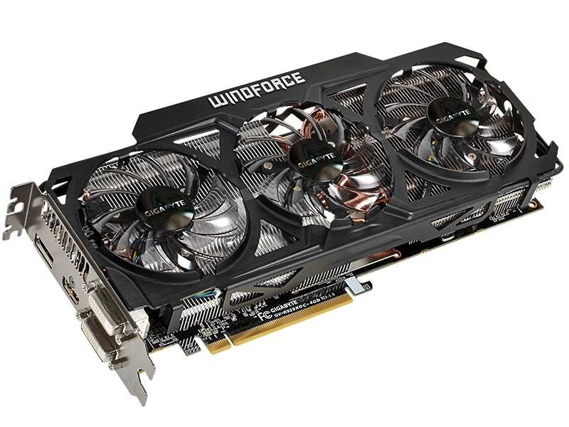 Видеокарта GigaByte Radeon R9 290X 1040Mhz PCI-E 3.0 4096Mb 5000Mhz 512 bit 2xDVI HDMI GV-R929XOC-4GD