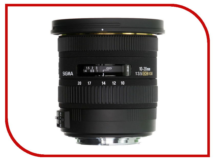 Объектив Sigma Nikon AF 10-20 mm F/3.5 EX DC HSM sigma 10 20 mm f 3 5 ex dc hsm wide angle lens for canon 1300d 600d 700d 750d 760d 60d 70d 80d t3i t5i t6 t6s