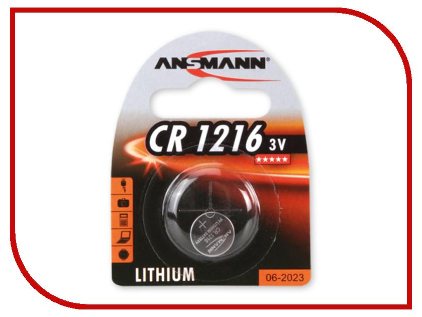 Батарейка CR1216 - Ansmann 1516-0007 BL1<br>