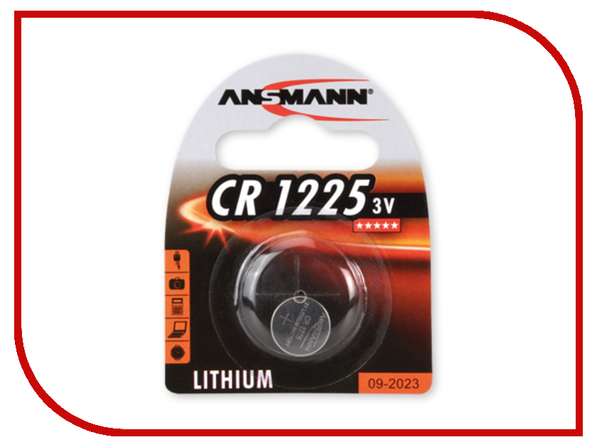 Батарейка CR1225 - Ansmann 1516-0008 BL1<br>