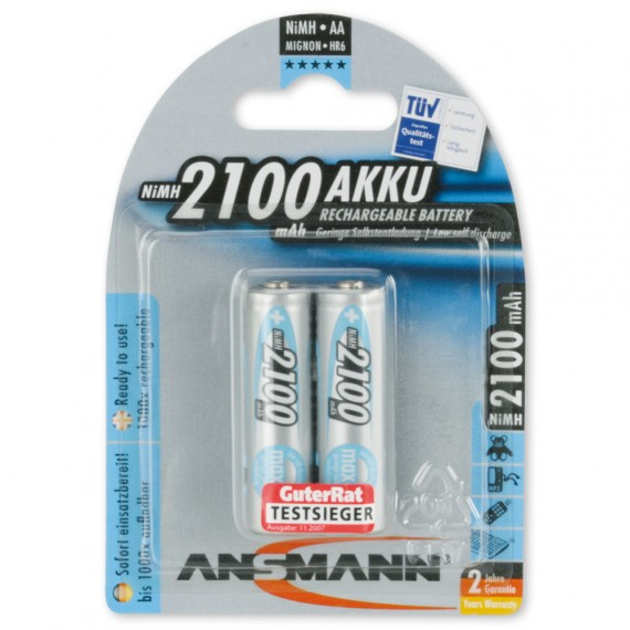 Аккумулятор AA - Ansmann MAXE 2100 BL2 (2 штуки) 5030992
