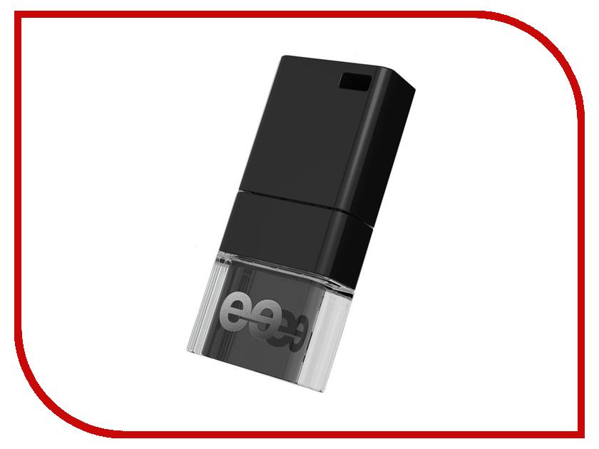 USB Flash Drive 32Gb - Leef Ice Black/ABS LFICE-032BLR<br>