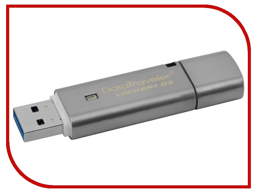 USB Flash Drive 8Gb - Kingston DataTraveler Locker+ G3 DTLPG3/8GB флешка usb 8gb kingston datatraveler dtse6 черный dtse6b 8gb