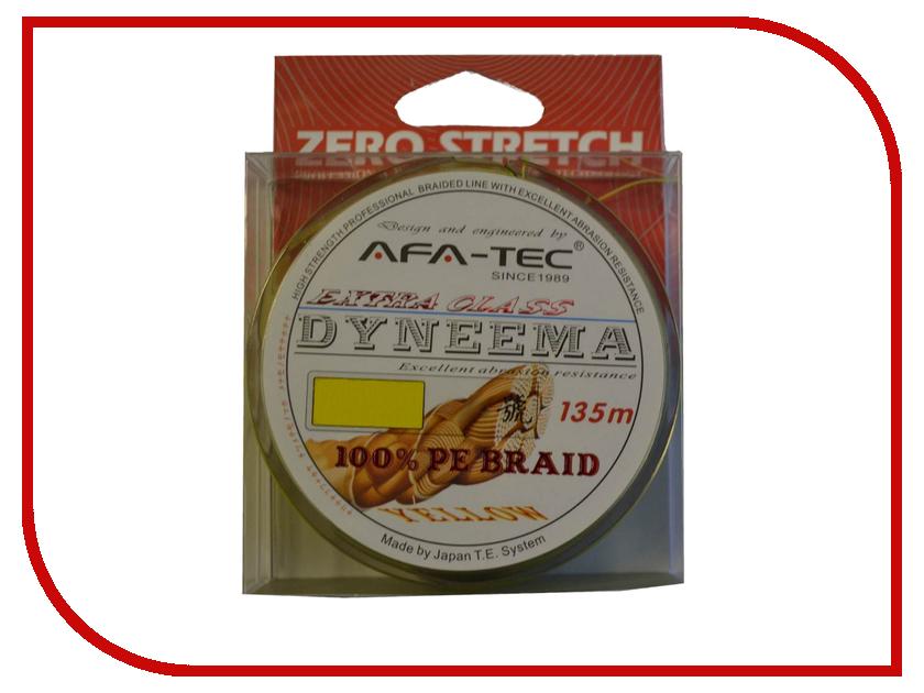 Шнур плетёный AFA-TEC Dyneema PEY25135 135m Yellow<br>