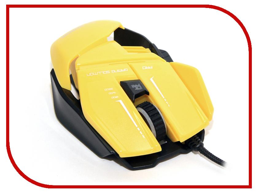 Мышь проводная 5bites CAMPER GM20YE Yellow USB<br>