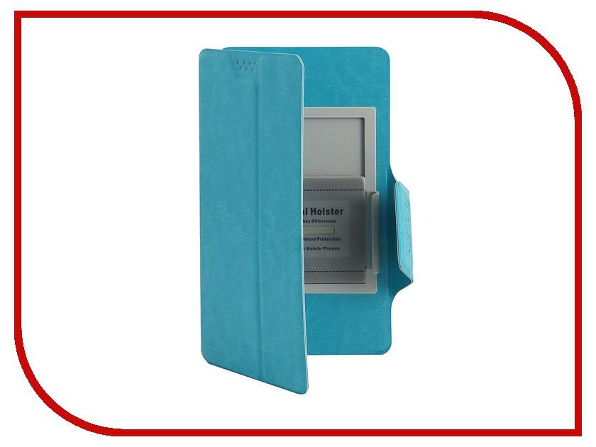 Аксессуар Чехол Media Gadget Clever SlideUP L 5.1-5.5-inch иск. кожа Blue CSU014