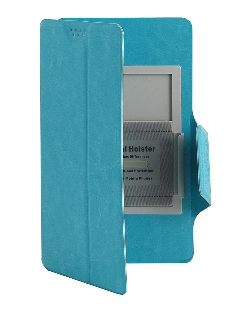 Чехол Media Gadget Clever SlideUP L 5.1-5.5-inch иск. кожа Blue CSU014