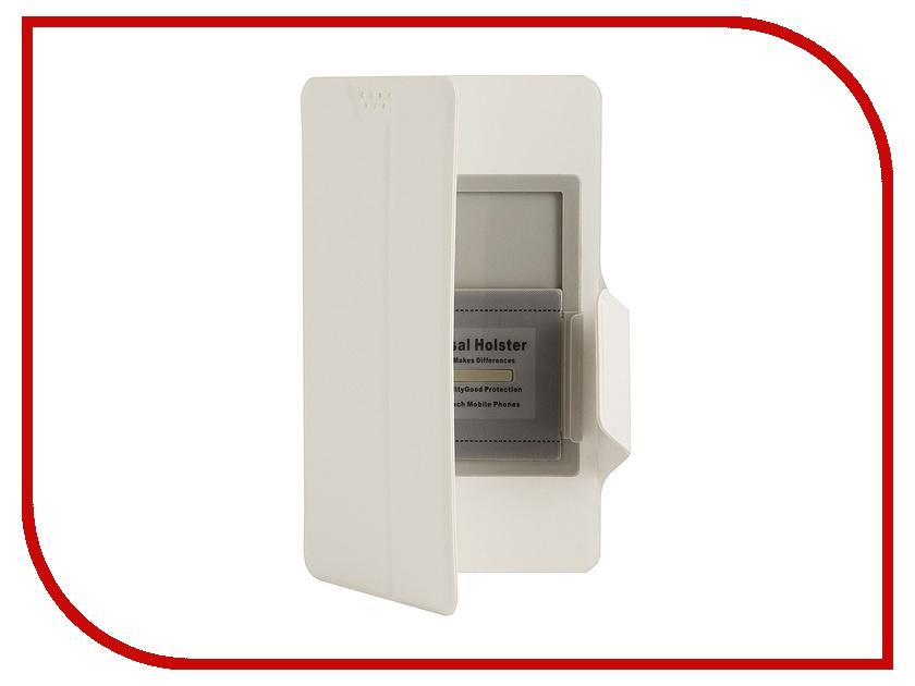 Аксессуар Чехол Media Gadget Clever SlideUP M 4.4-5.0-inch иск. кожа White CSU007
