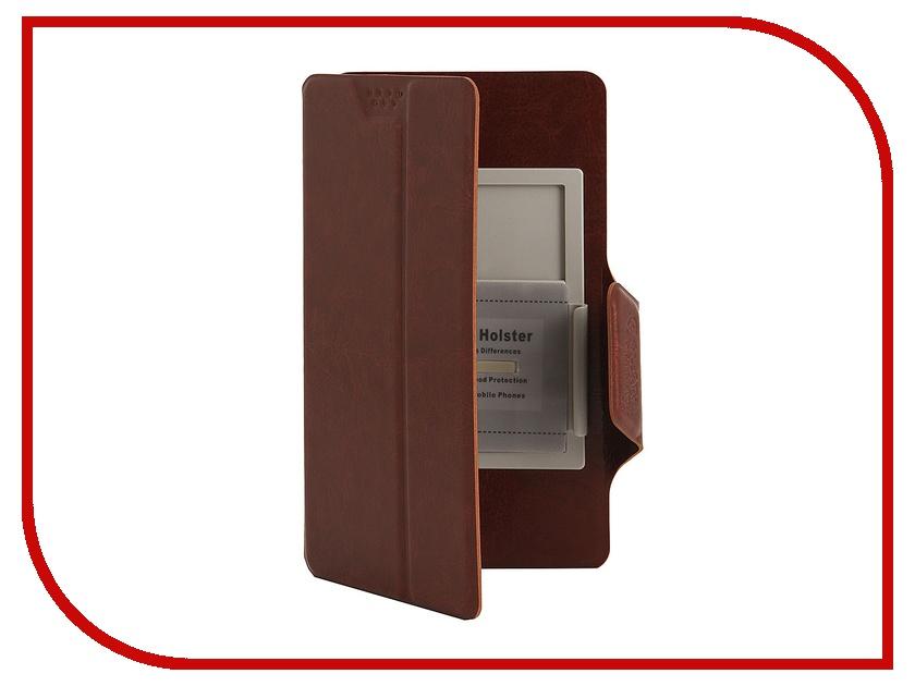 Аксессуар Чехол Media Gadget Clever SlideUP S 3.5-4.3-inch иск. кожа Brown CSU005