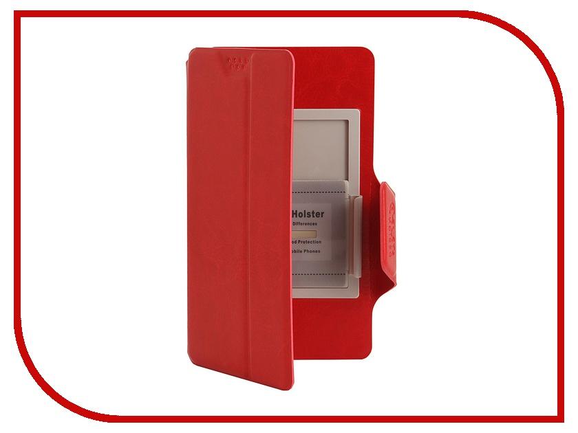 Аксессуар Чехол Media Gadget Clever SlideUP S 3.5-4.3-inch иск. кожа Red CSU003<br>