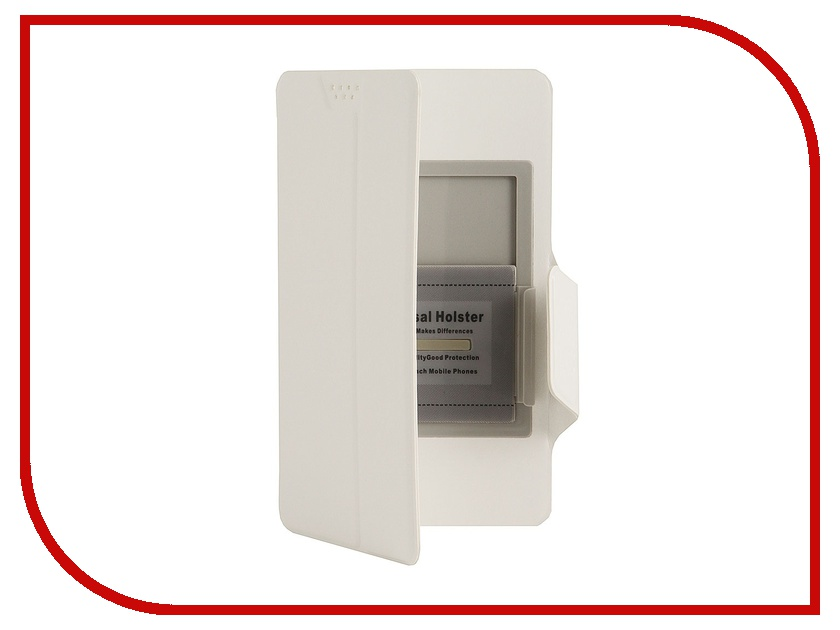 Аксессуар Чехол Media Gadget Clever SlideUP XL 5.6-6.3-inch иск. кожа White CSU017<br>