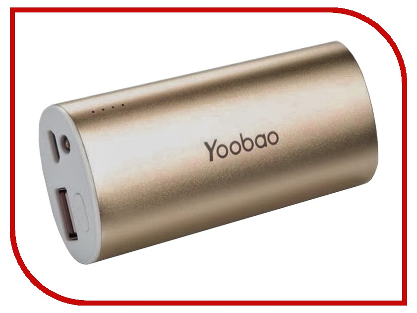 Аккумулятор Yoobao 5200 mAh YB-6012 Gold<br>