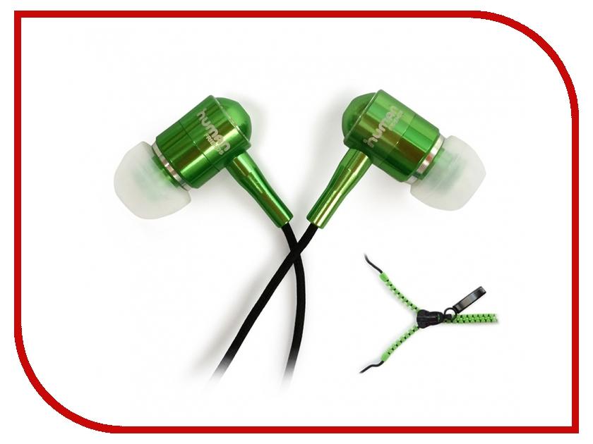 Наушники CBR Human Friends Zipper Green<br>