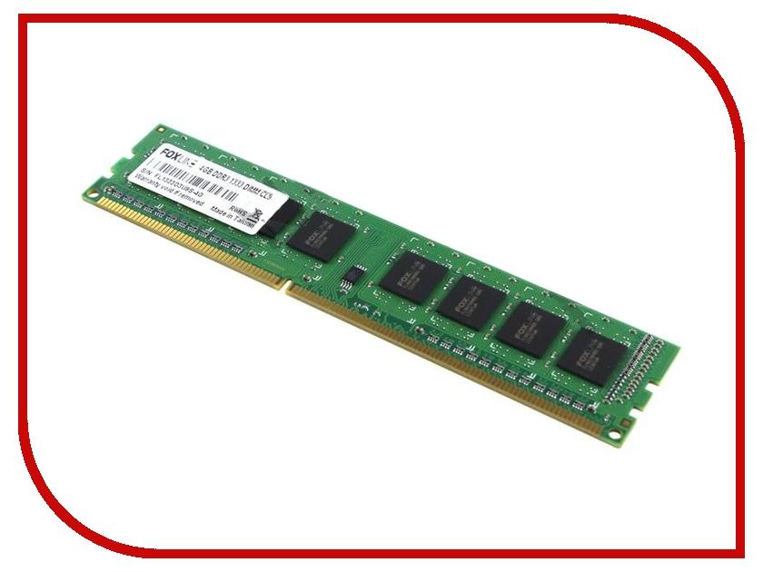 Модуль памяти Foxline DDR3 DIMM 1333MHz PC3-10600 CL9 - 4Gb FL1333D3U9S-4G<br>