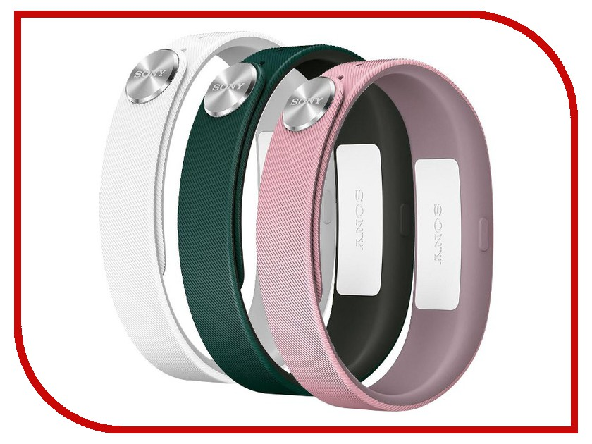 Aксессуар Sony Wrist Strap SWR110 S for SmartBand SWR10 White/Light-Pink/Dark-Green 1280-9640
