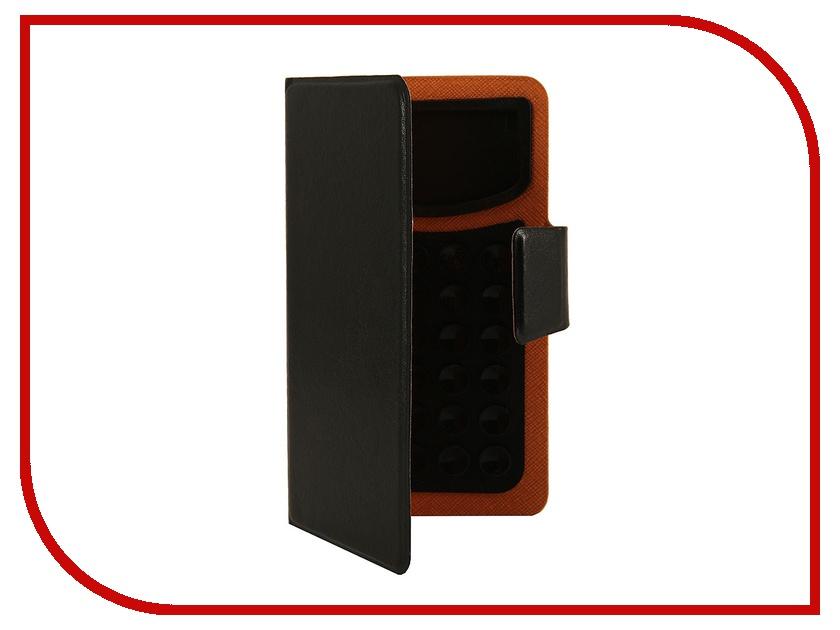 Аксессуар Чехол Prolife Platinum 4.0-inch на присосках эко кожа Black 4087515 prolife prolife platinum для iphone
